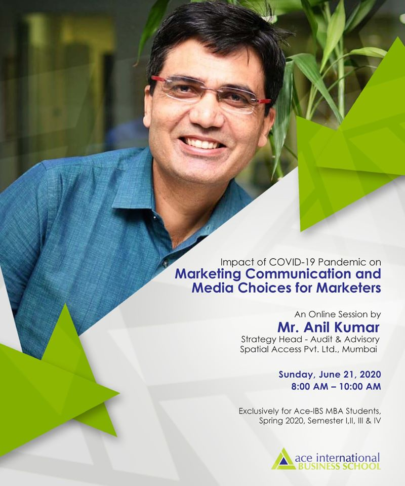 "Online session on ""Impact of COVID Pandemic on Marketing Communication & Media Choices for Marketers"