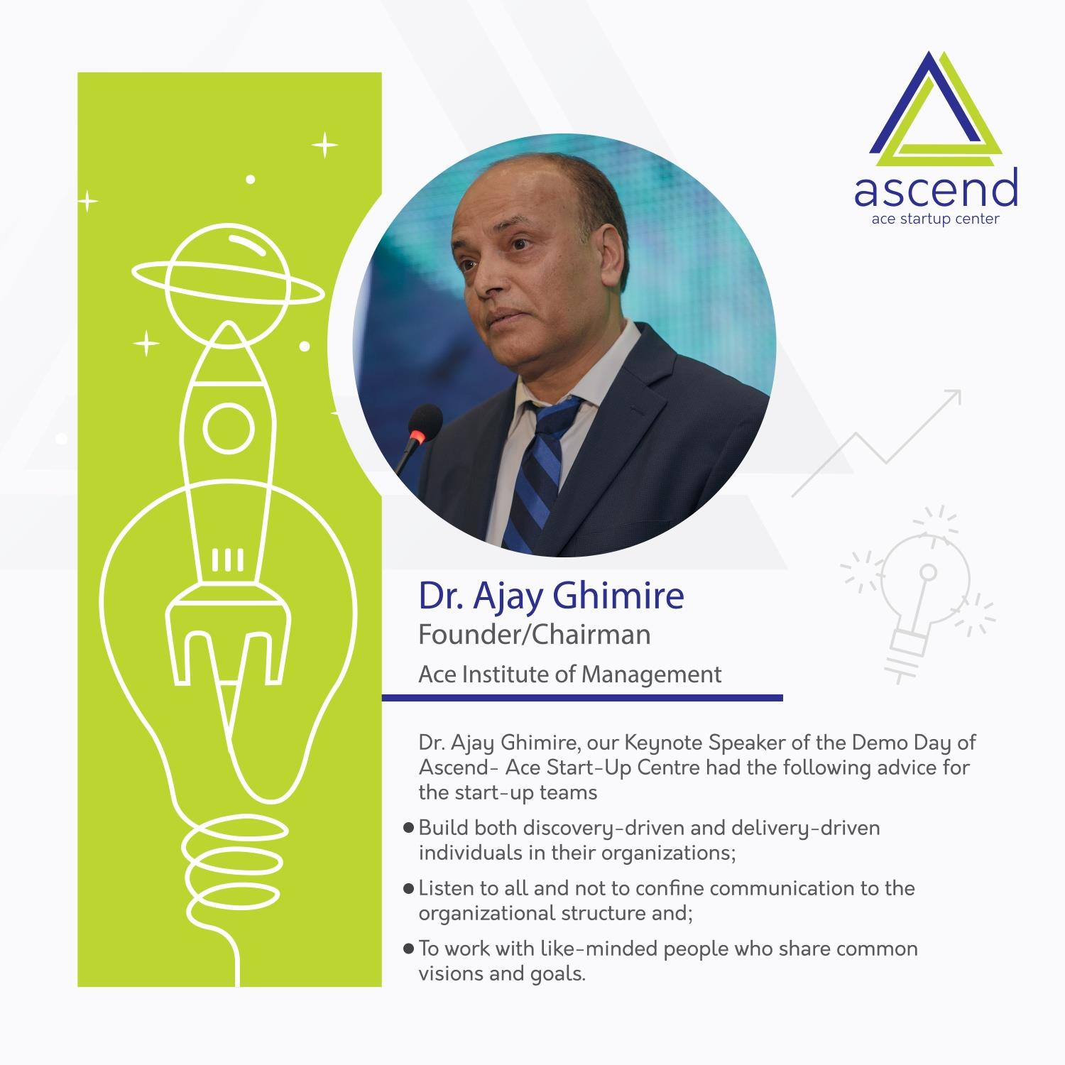 Demo day of Ascend -Ace Start Up Center