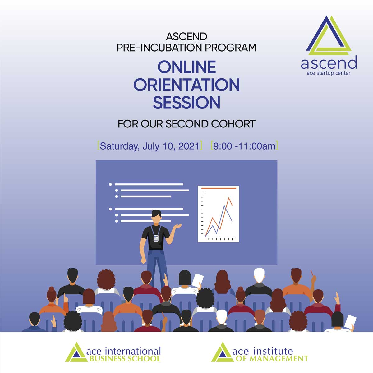 Orientation for the new cohort of Ascend Ace Start-up Center.